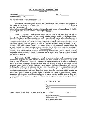 partial lien waiver template - fillable partial unconditional waiver of lien download