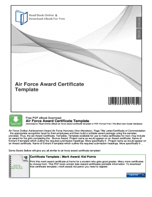 51 printable certificate of appreciation template forms for Air force certificate of appreciation template