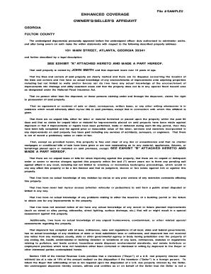 Fillable Sample I 751 Affidavit