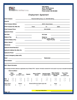 Employment Agreement - ONE Staffing Inc
