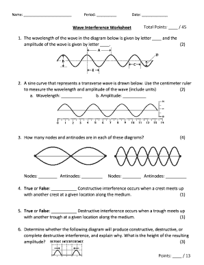 Wave Interference Worksheet Answer Key - Fill Online ...