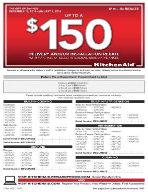 Fillable Online Download Rebate Form Albert Lee