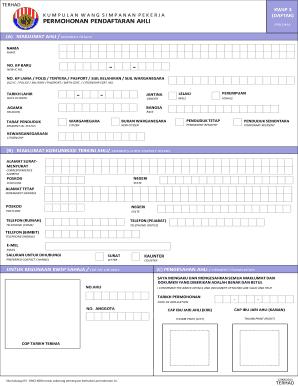 Borang Pendaftaran Kwsp Ahli Baru Fill Online Printable