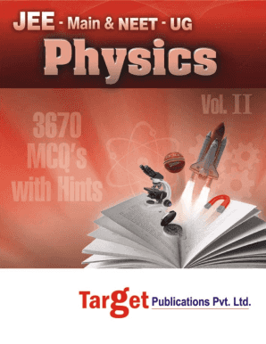 Pdf File Of Jee Target Publication Physics Book Mcq - Fill Online