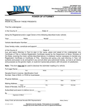Of Attorney Form Texas Dmv
