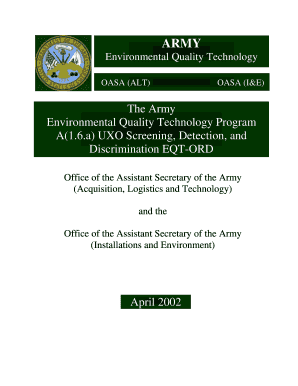 Fillable Online Aec Army Environmental Quality Technology