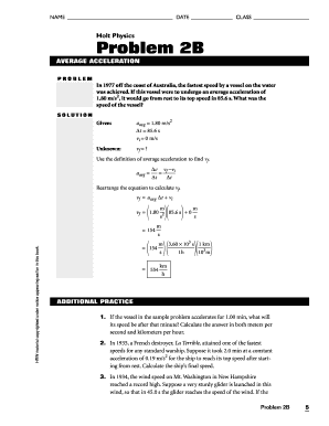 Motion in One Dimension Mixed Review - HOLT PHYSICS Mixed Review ...