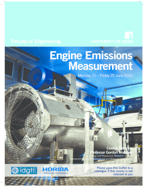 Faculty of Engineering Engine Emissions measurement - engineering leeds ac
