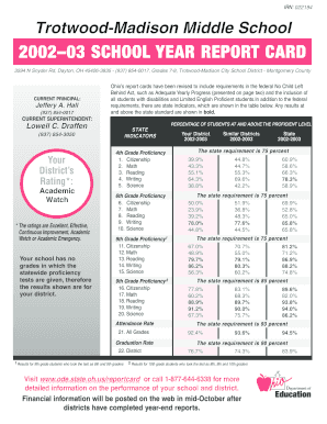 200203 SCHOOL YEAR REPORT CARD - trotwoodk12ohus - trotwood k12 oh