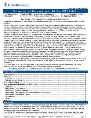 medicare depression screening cpt code - Edit Online, Fill ...