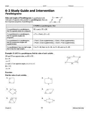 Fillable online 7-6 study guide and intervention kinetigramcom.