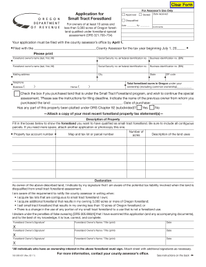 Small business risk assessment template fill out print download application for small tract forestland accmission Image collections