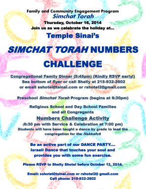 Fillable Online SIMCHAT TORAH NUMBERS CHALLENGE - tsinaicom