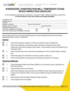new construction building inspection checklist - Editable