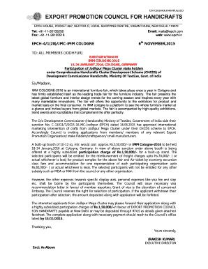 Fillable Online Cin U20299dl1986npl023253 Export Promotion Council