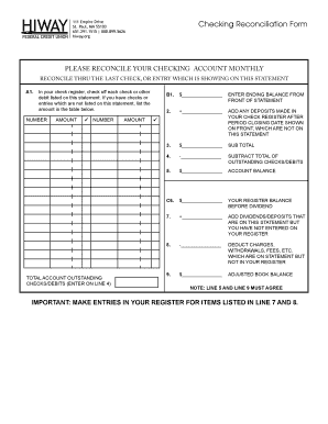 20 printable checking account reconciliation worksheet forms and