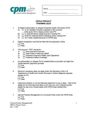 photograph relating to Printable Hipaa Quiz referred to as Printable hipaa compliant indicator within clipboard - Fill Out