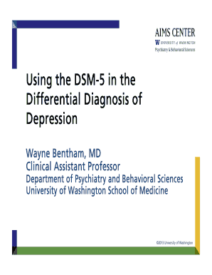 major depressive disorder dsm 5 - Edit Online, Fill Out ...