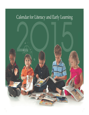 2015 Calendar for Literacy and Early Learning - First Steps
