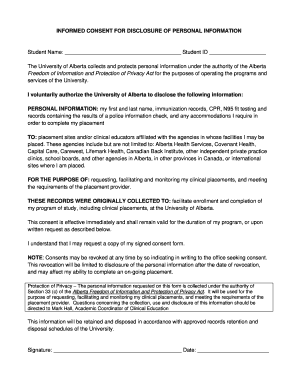 Power Of Attorney Form Alberta Consent To Disclose Of Personal ...