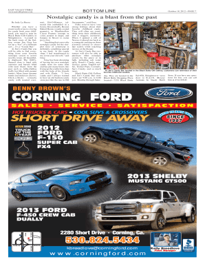 Fillable Online Corning Ford East Valley Times Fax Email Print