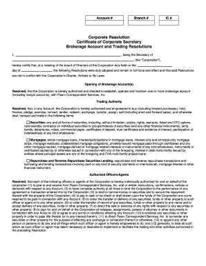 Corporate Resolution Certificate Of Corporate Secretary  Corporate Bylaws Template