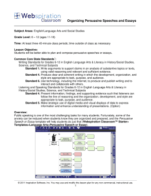 Printable Persuasive Speech Outline Template