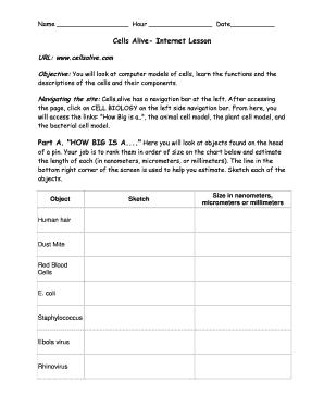 Fillable Online isd2135 k12 mn Cellsalive web worksheet