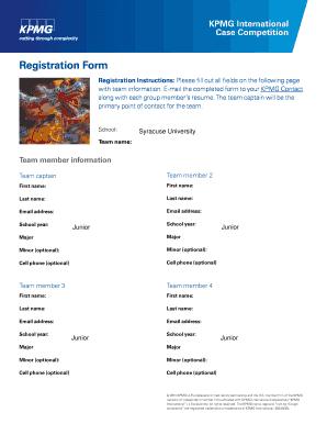 kpmg engagement letter - Editable, Fillable & Printable