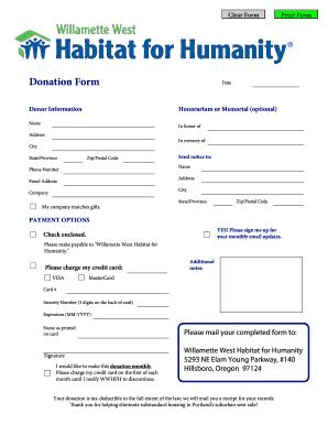 donor pledge form