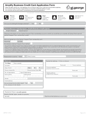 Business credit application form edit print fill out amplify business credit card application form reheart Gallery