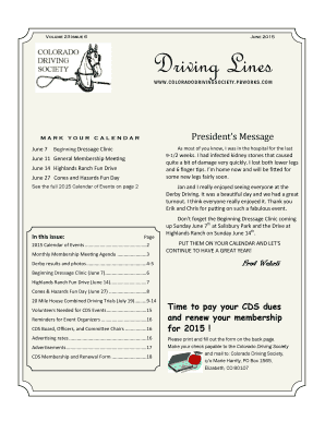 Volume 23 Issue 6 June 2015 Driving Lines - PBworks