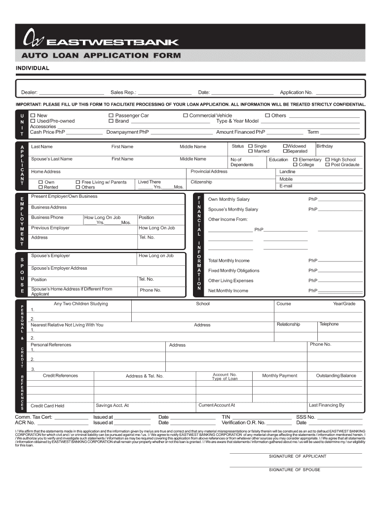 large Template Application Form For Loan Fnb on microsoft word, form for, for mortgage, for car, panda bank credit, bank business, printable blank, excel format,