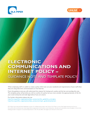 ElEctronic communications and intErnEt policy - UnLtd - unltd org