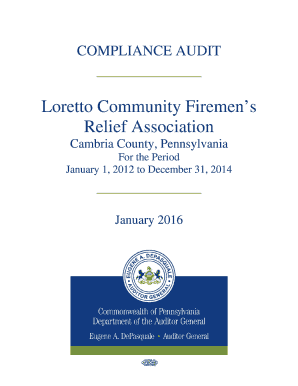 Loretto Community Firemens Relief Association - Cambria County, Pennsylvania - 01062016