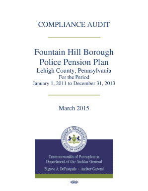 Fountain Hill Borough - police Pension Plan - Lehigh County, Pennsylvania - 03172015