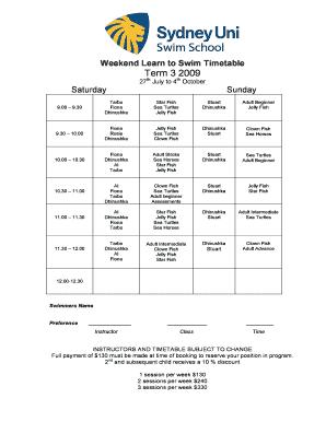 Sydney Uni Timetable