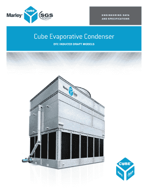 E N G I N E E R I N G D ATA A N D S P E C I F I CAT I O N S Cube Evaporative Condenser DTC INDUCED DRAFT MODELS Cube DTC Evaporative Condenser Features and Benefits 2 Cube DrawTh roug h Evaporati ve Condenser The Cube represents the synergy