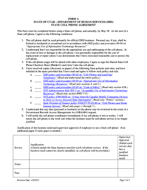 mobile phone policy template - company cell phone data usage policy fill out online