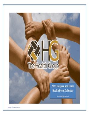 2011 Hospice and Home Health Event Calendar