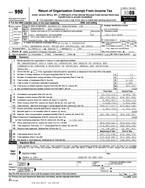 15450047 Form Return of Organization Exempt From Income Tax Department of the Treasury Internal Revenue Service Check if applicable: Address change Name change Initial return Termination X Amended return Application pending Open to Public -