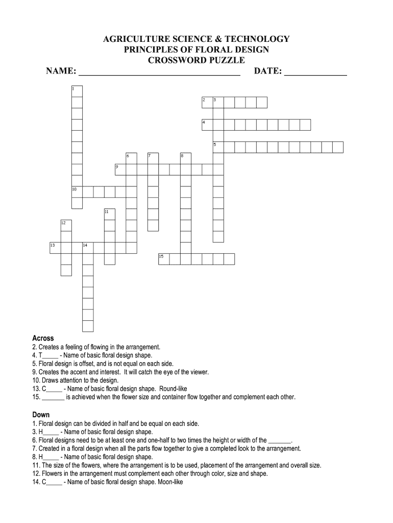 This is an image of Science Crossword Puzzle Printable within fifth grade