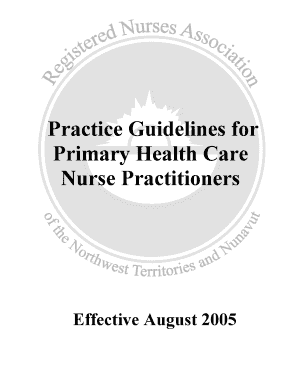 Practice Guidelines for Primary Health Care Nurse