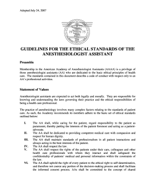 GUIDELINES FOR THE ETHICAL STANDARDS OF THE