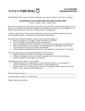 29 Printable Programme Proposal Template Forms Fillable