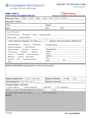 resource request form template - Fillable & Printable Online