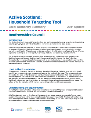 Essentially the tool is a database in which Scottish households are categorised into eleven groups - sportscotland org