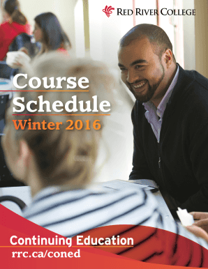 Continuing Education Schedule - Red River College