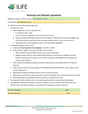 Employer and Attendant Agreement