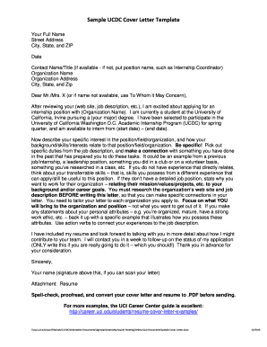 Sample UCDC Cover Letter Template - UC Washington DC - dccenter uci